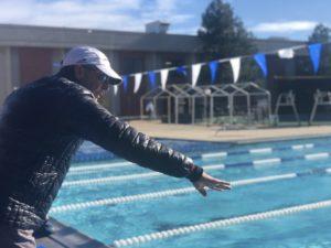 Dave Scott coaching a swim quad