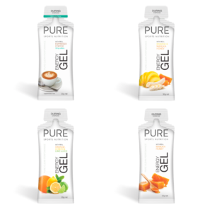 image of four pure energy gels