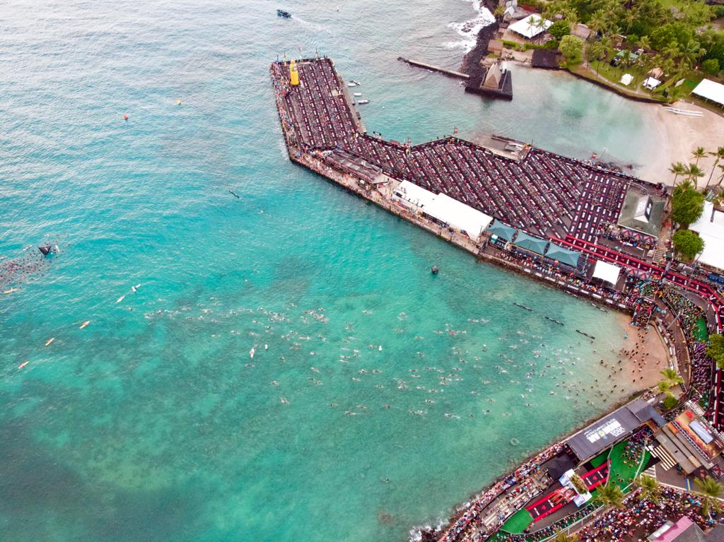 swimmers starting at Kona 2019