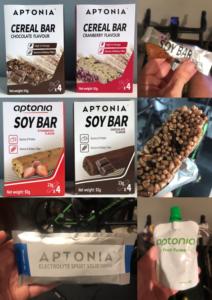 assortment of aptonia endurance snacks